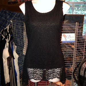 Gorgeous black lace tank top shirt New